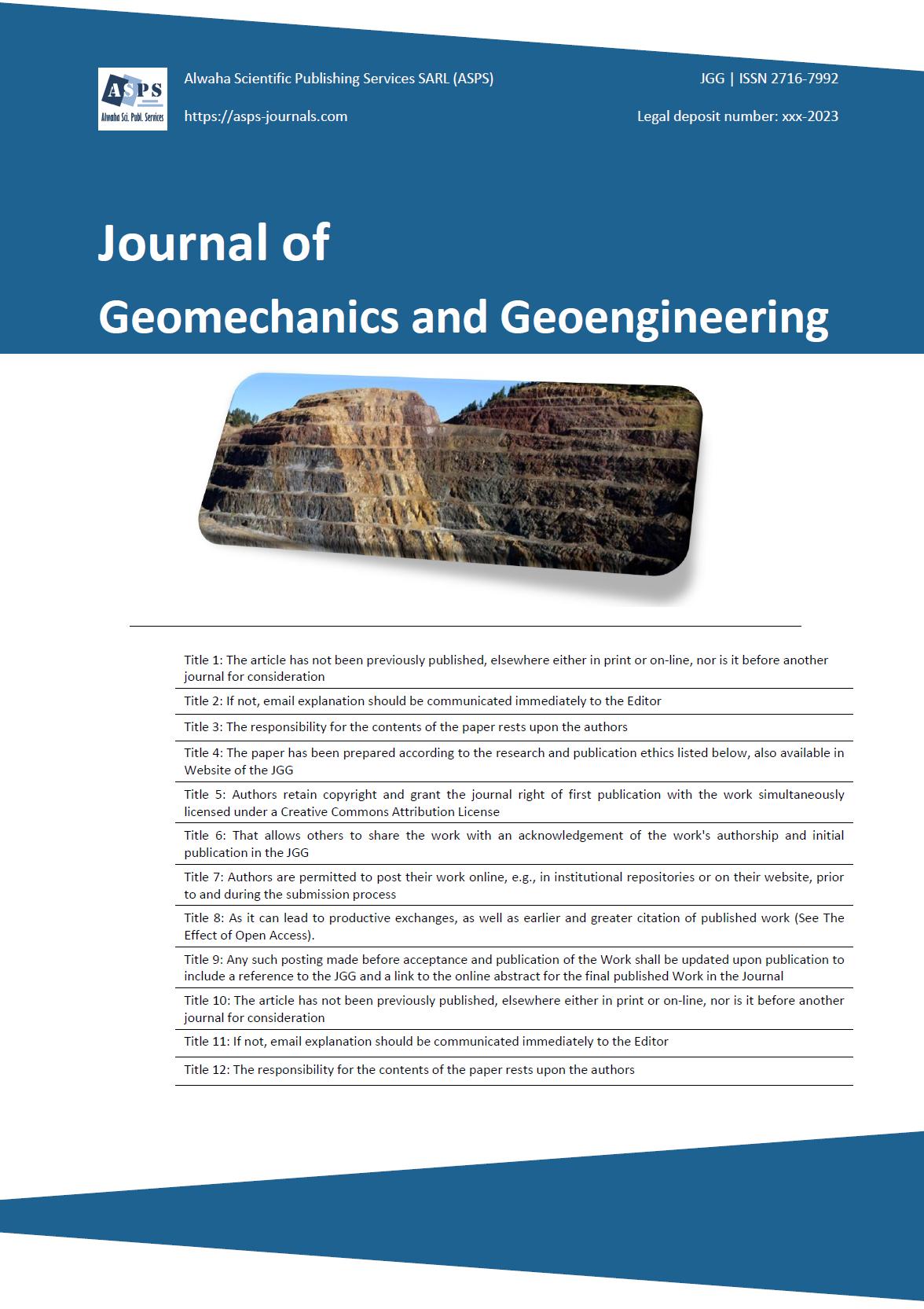 Journal of Geomechanics and Geoengineering (JGG)