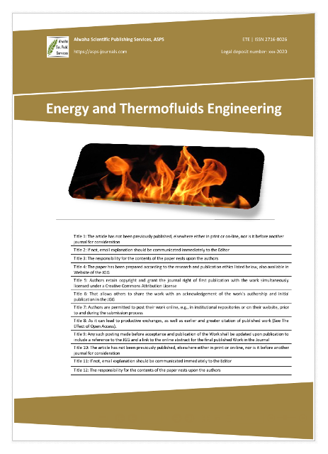 Energy and Thermofluids Engineering, ETE