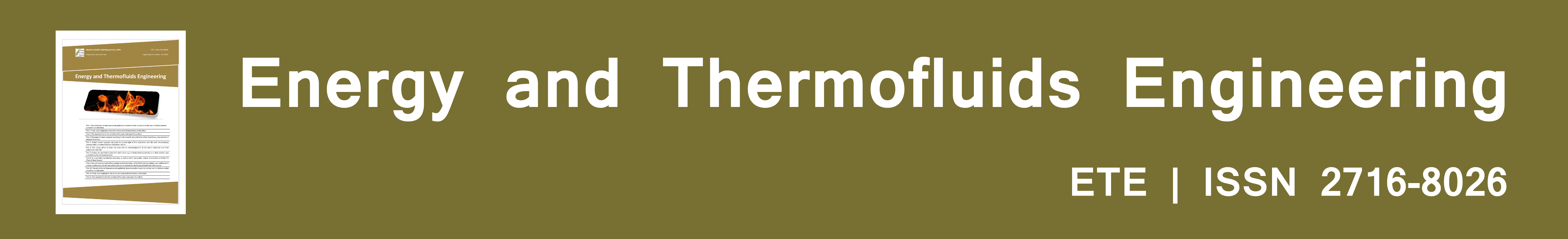 Energy and Thermofluids Engineering (ETE)