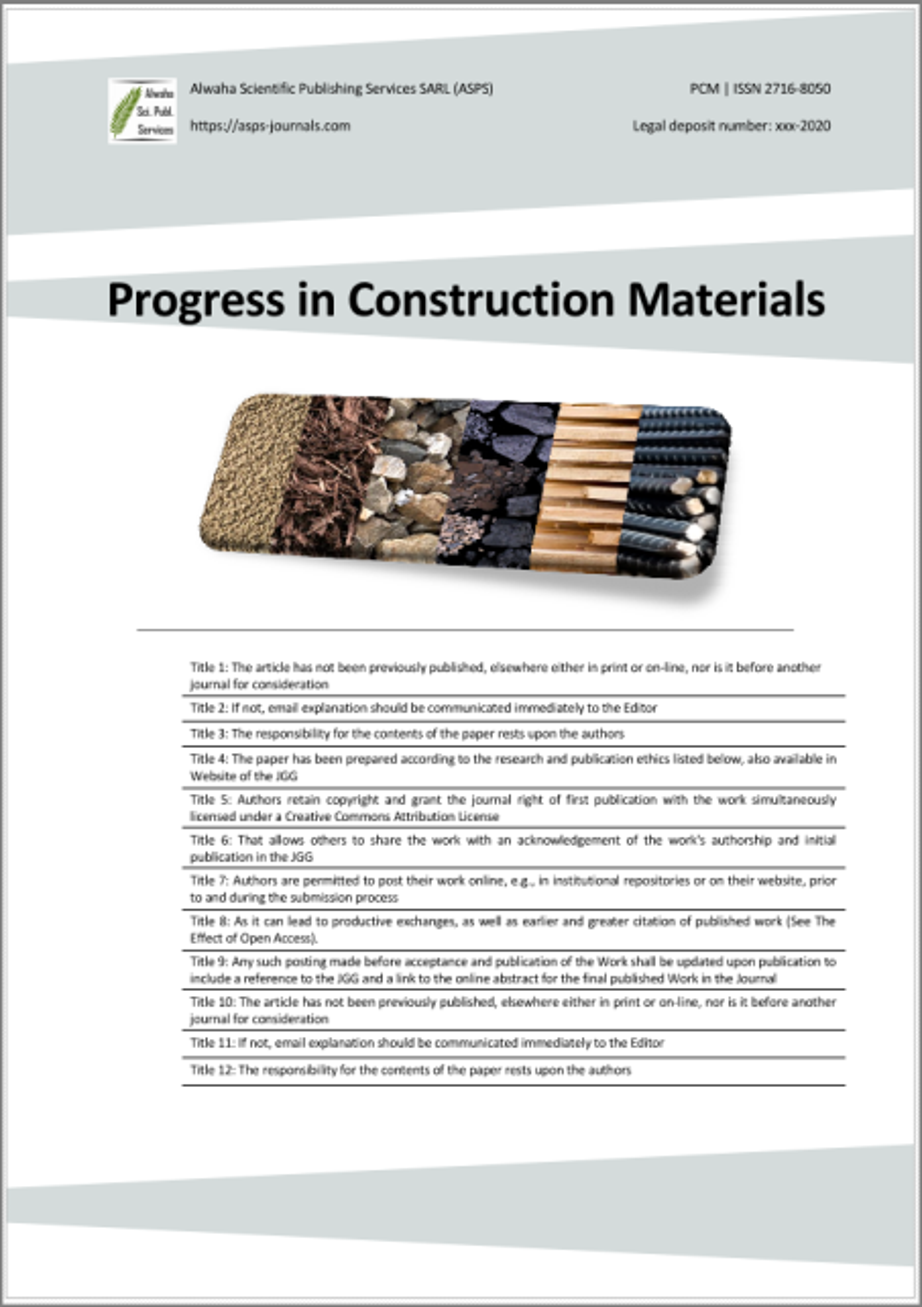 Progress in Construction Materials (PCM)