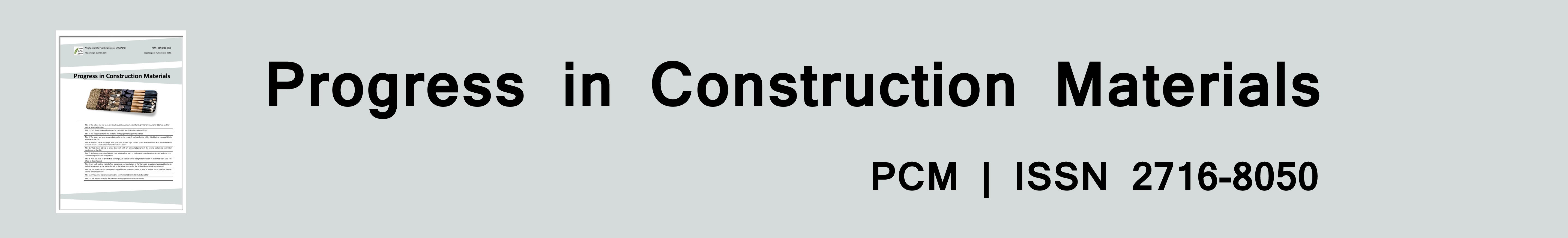 Progress in Construction Materials (PCM)