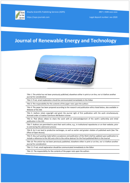 Journal of Renewable Energy and Technology (JRET)